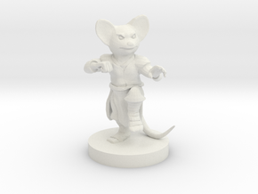 Mousefolk Monk in White Natural Versatile Plastic