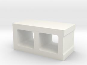 1/10 Concrete Corner Block in White Strong & Flexible