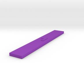 Customizable Range Ruler - Space 1  in Purple Processed Versatile Plastic