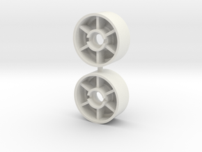 Mini-Z front rims 19,5 +0 in White Natural Versatile Plastic