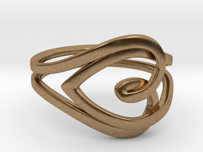 Heart Ring in Natural Brass: 6.5 / 52.75