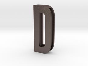Choker Slide Letters (4cm) - Letter D in Polished Bronzed Silver Steel