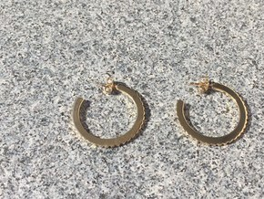Ingranaggi Hoop Earrings  in 18k Gold Plated