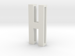 Choker Slide Letters (4cm) - Letter H in White Strong & Flexible