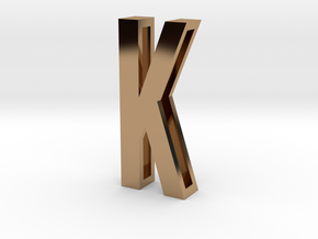 Choker Slide Letters (4cm) - Letter K in Polished Brass