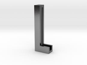 Choker Slide Letters (4cm) - Letter L in Polished Silver