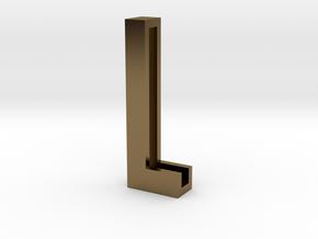Choker Slide Letters (4cm) - Letter L in Polished Bronze