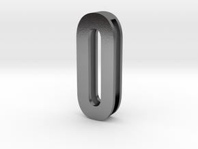 Choker Slide Letters (4cm) - Letter O or Number 0 in Polished Silver