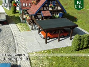Carport (N 1:160)  in Smooth Fine Detail Plastic