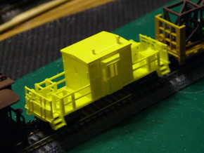 Bay Window Transfer Caboose in Smooth Fine Detail Plastic