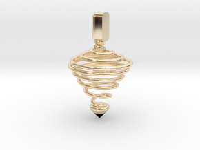 Functional Spinning top  in 14K Yellow Gold