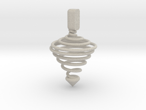 Functional Spinning top  in Natural Sandstone