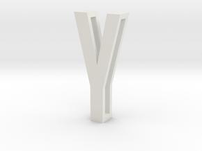 Choker Slide Letters (4cm) - Letter Y in White Natural Versatile Plastic