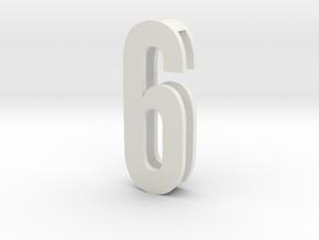 Choker Slide Letters (4cm) - Number 6 or Number 9 in White Natural Versatile Plastic