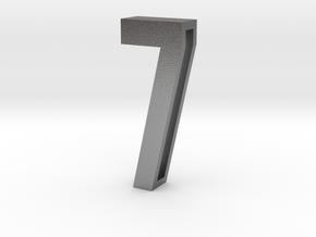 Choker Slide Letters (4cm) - Number 7 in Natural Silver