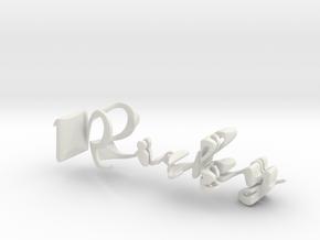 3dWordFlip: Ricky/Kathy in White Natural Versatile Plastic