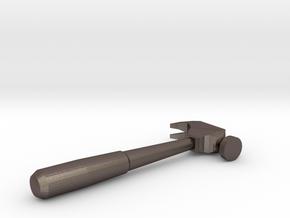 Mini Hammer in Polished Bronzed Silver Steel