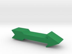 Arrow Game Piece in Green Processed Versatile Plastic