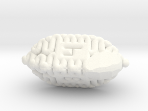 Brain d4 in White Processed Versatile Plastic