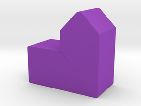 City Game Piece in Purple Processed Versatile Plastic