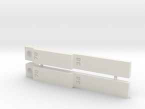 T-TRAK guide - pair in White Natural Versatile Plastic