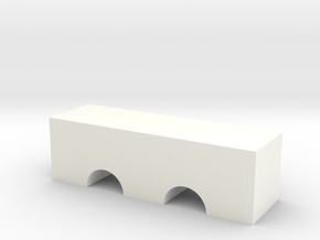 Double Arch Bridge Game Piece in White Processed Versatile Plastic
