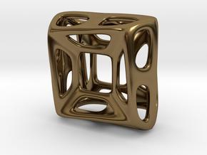 Nest ::: Square Pendant ::: v.01 in Polished Bronze