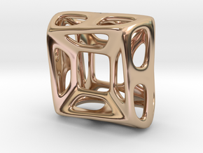 Nest ::: Square Pendant ::: v.01 in 14k Rose Gold Plated