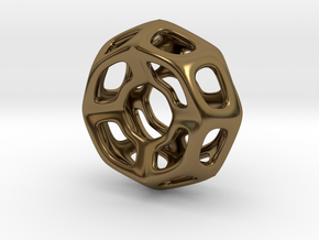 Nest ::: Circle Pendant ::: v.01 in Polished Bronze