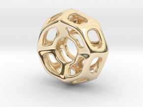 Nest ::: Circle Pendant ::: v.01 in 14k Gold Plated Brass