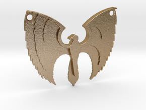 Phoenix Pendant in Polished Gold Steel