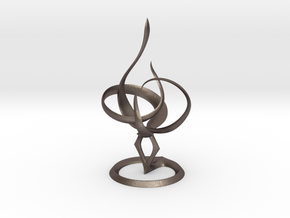 Tone.small in Polished Bronzed Silver Steel
