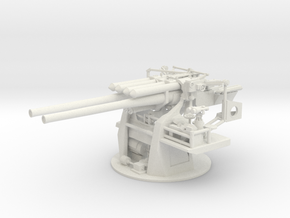 1/35 IJN 12.7cm/40 Type 89 Naval Gun in White Natural Versatile Plastic