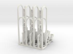 1/35+ M60 GPMG w/mount (3 set) in White Natural Versatile Plastic: 1:18