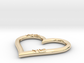 HEART NAME in 14k Gold Plated Brass