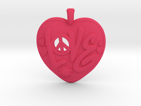 12 - Love-Locket  in Pink Strong & Flexible Polished: Medium