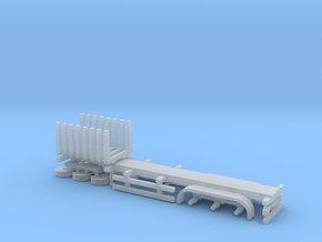 N Gauge Log Trailer in Smooth Fine Detail Plastic