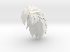 Custom Madara Inspired Hair for Lego in White Natural Versatile Plastic