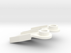 Minifig Splitfins with angled blade in White Strong & Flexible Polished