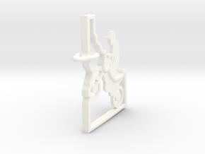 Idaho-Motorcycle-Keychain in White Processed Versatile Plastic