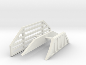 1/64th Guards for Straight Bulldozer blade in White Natural Versatile Plastic