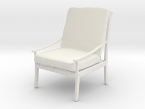Printle Thing Armchair 05 - 1/24 in White Natural Versatile Plastic