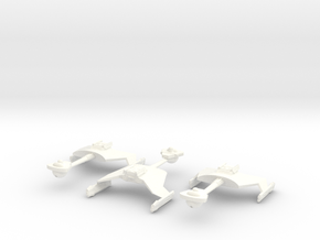 5k trek Klingon D7 fleet in White Processed Versatile Plastic