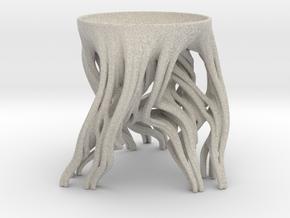 Tripod Julia bowl with smooth interior in Natural Sandstone: Medium