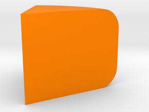 Cheese Wheel Slice Game Piece in Orange Processed Versatile Plastic