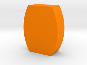 Flat Barrel Game Piece in Orange Processed Versatile Plastic