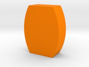 Flat Barrel Game Piece in Orange Processed Versatile Plastic