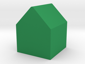 House Game Piece in Green Processed Versatile Plastic