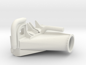 Draghead-1:50 in White Natural Versatile Plastic