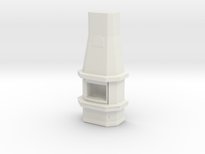 Printle Thing Fireplace - 1/24 in White Natural Versatile Plastic